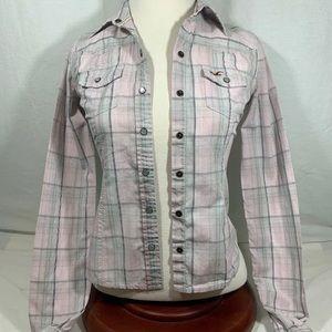 Hollister Women Long Sleeve Button Down Shirt